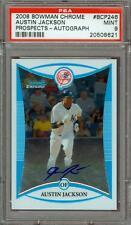 2008 Bowman Chrome Austin Jackson Rookie Autograph PSA 9 #BCP246