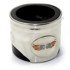 Chevy SS Fire Flames Logo Piston Shaped Soda Cup Mug Can Cooler Holder Koozie