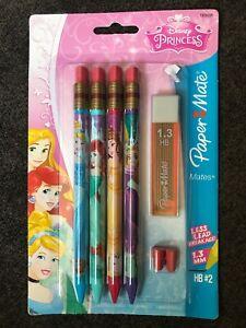 Paper Mate Mates Disney Princess 1.3mm HB#2 Mechanical Pencil 4-Pack