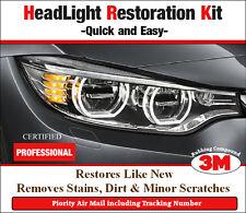 Headlight Restoration Pro Kit Car Lens  Light Polish Cleaner + F1 Scratch Out