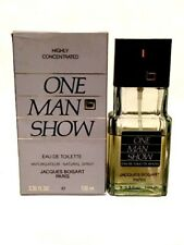 One Man Show by Bogart 3.3 oz. spray Older Formula 85% vol over half full w/ box