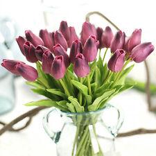 1pc Fashion Artificial Fake Tulip Flowers Home Wedding Party Home Decor Purple
