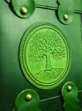 OAK Tree Hecho a Mano Cuero Vintage A5 Diario Cuaderno De Bocetos Diario-Cuero Verde