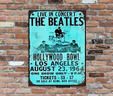 "THE BEATLES (4)10x8"" Retro Metal Concert Poster Sign Plaque Wall Art Pic (2)"