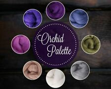 ORCHID Color Palette Wool Roving Fiber 2oz/56 grams Needle Felting Spinning Soap