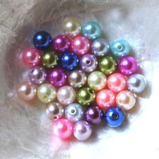 PERLE RÉSINE Imitation NACRE   - RONDE - 10 mm -   - Multicolore Tons Pastels