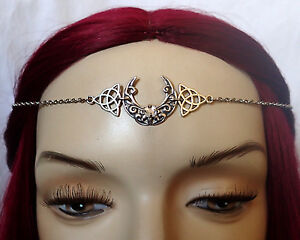 Moon Goddess Silver Crown Circlet Headpiece Headdress Gothic Celtic Jewelry