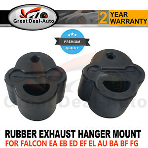 2 x RUBBER EXHAUST HANGER MOUNT FOR FORD FALCON ED EF EL AU BA BF FG UTE MOUNTS