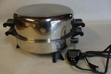 """Saladmaster  Electric Skillet New Power Cord Very Nice 7817 11"""" W High Dome Lid"""