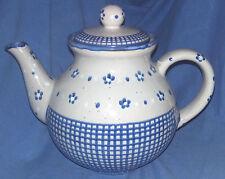 TEEKANNE +TELLER Steinzeug KERAMIK German Pottery 5010 Kanne alt Bunzlau? Shabby