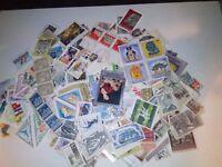 100 grammes de timbres étrangers divers pays, diverses époques