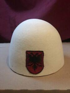 Handmade Traditional Albanian Kosovo Eagle Hat / Fez / Plis / Qeleshe
