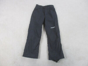 Spyder Pants Youth Medium Size 10 Black Gray Snow Winter Outdoors Kids Boys *