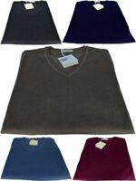 Men's Sweater V-Neck Made In Italy Cashmere Silk Sweater Men V Neck