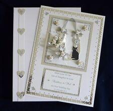 Tarjeta de día de bodas + Caja hijo/hija/hermana/hermano/Sobrina/Amigos Personalizado