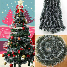 Xmas Tree Hanging Ornament Decoration Garland Ribbon String Christmas Party FA