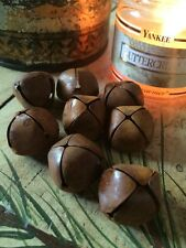 """(8) Primitive Rusty Tin JINGLE BELLS 25mm 1"""" 1 in Christmas Crafts Rust Rusted"""