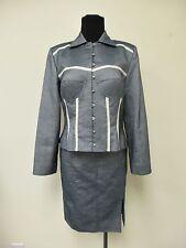 CHRISTIAN DIOR Grey Cotton Jacket, Skirt and Shorts sz 10, sz 12