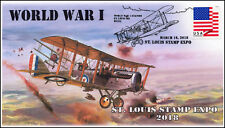 18-085, 2018, World War I, Pictorial Postmark, St Louis Stamp Expo, Event Cover,