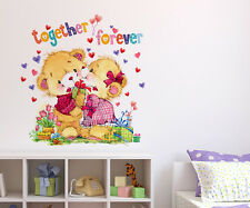 6400015 | Wall Stickers Kids Room Together Forever Teddy Bear Design