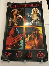 Led Zeppelin Live Photos + Zoso Symbols Poster*Rare*