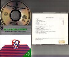 LUTOSLAWSKI- Symphony No.3 & Chain 1, 2 & 3 CD (1989 UK EX++) WIT/HOLLIGER/KORD