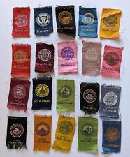20 Vintage c.1910 S90 Turkey Red Tobacco Cigarette Silks Cities Scranton Omaha