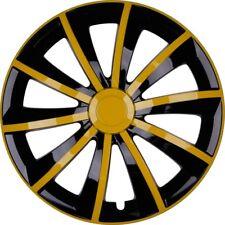 """4x Premium Diseño Tapacubos Kit"""" GRAL """"14 pulgadas en amarillo / Negro"""