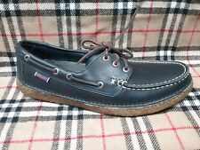 SEBAGO - B694521 - RONAN THREE EYE - Men's Shoes - NAVY Leather - Size 10.5