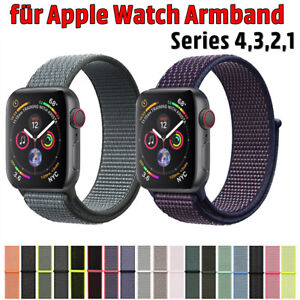 Für Apple Watch Armband Nylongewebte Band Nylon Sport Loop  Serie 38 40 42 44mm