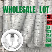 Wholesale Bulk Lot USB Fast Charger Cable 3Ft 6Ft For Apple iPhone XR X 8 7 Plus