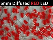 100x Red 5mm Round Leds Diffused High Quality Light Bulb Usa