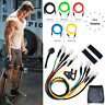 11pcs/set Resistance Bands Pull Rope Fitness Exercises Latex Tubes Pedal Workout