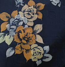 Japanisch vintage kimono seidenstoff Rosen auf Blauem