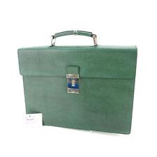Auth Prada Business Bag with logo Plate Men used P406