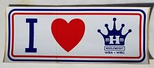 VINTAGE I LOVE MARVELOUS MARVIN HAGLER BUMPER STICKER-MIDDLEWEIGHT WBA WBC-OG