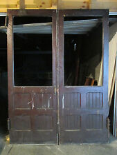 ANTIQUE OAK DOUBLE ENTRANCE FRENCH DOORS 71.25 x 97 ~ ARCHITECTURAL SALVAGE ~ & Glass Antique Doors | eBay