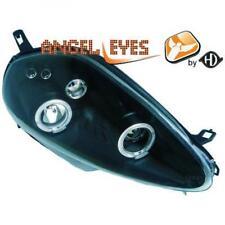COPPIA FARI Lhd Design Angel Eyes Nero Chiaro H1 H1 PER FIAT GRANDE PUNTO