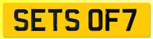 ONE Set of 7 Gel Domed BLACK Number Plate Digits (Plates not included) 7 ONLY