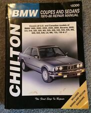 BMW Coupes and Sedans, 1970-88 by Chilton Automotive Editorial Staff (1998, Pape