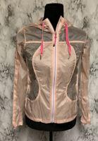 Lululemon Size 2 Pink Hooded Wind Breaker Rain Jacket