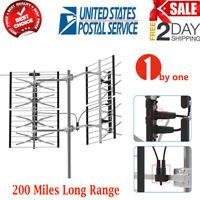1byone 200 Miles Outdoor TV Antenna Digital HD VHF/UHF Long Range+Mount Bracket