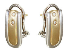 Zweifarbenohrschmuck Gold 585 mit Brillant - Ohrclip - Goldohrringe - Ohrstecker