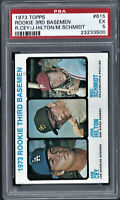MIKE SCHMIDT / RON CEY ROOKIE - 1973 Topps #615 RC well centered HIGH END PSA 5