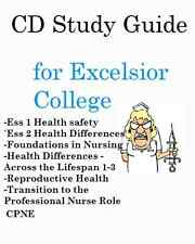 Test Prep Bundle Excelsior College Nursing Exams 1-8 + CPNE CD Study Guides