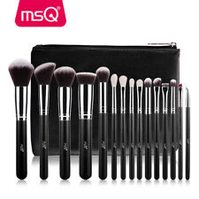MSQ Professional 15PCs Makeup Brush Set Powder Cosmetic Tool Synthetic Bag Black