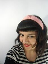 Serre tête turban épais tissu rose rétro pinup vintage inspired coiffures