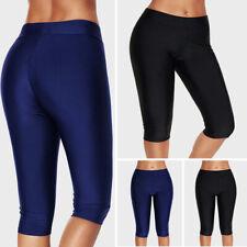 Womens Long Swim Shorts Boardshort High Waisted Bottom Tankini Swimwear Pants
