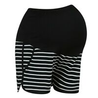 Maternity Summer Casual Loose Fit Stretchy High Waist Adjustable Short Pants