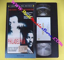 VHS film cartonata PHILADELPHIA Tom Hanks Denzel Washington MONDADORI(F93)no dvd